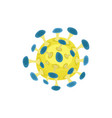 round-shaped pathogenic bacteria or virus under vector image vector image