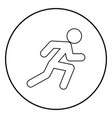 run man icon black color simple image vector image