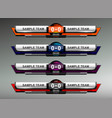 scoreboard design elements vector image vector image