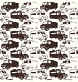seamless pattern of fast food car delivery vector image