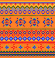 seamless pattern with geometric ornaments mexican vector image