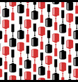 seamless pattern with nail polish bottles vector image vector image