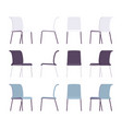 set of office chairs in differnt colors vector image