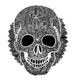 skull tatoo day of the dead vector image