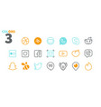 social media ui pixel perfect well-crafted vector image