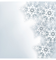 stylish creative abstract background 3d snowflake vector image vector image