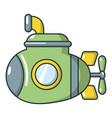 submarine military icon cartoon style vector image vector image