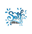 surf lettering logo in graffiti style vector image