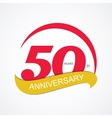 Template Logo 50 Anniversary vector image vector image