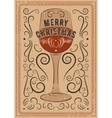 Typographic vintage style Christmas card vector image vector image