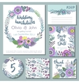 wedding collection templates vector image vector image