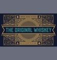 whiskey label vintage logo western vector image vector image