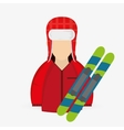 Winter design Sport icon Colorful vector image vector image