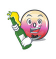 with beer jelly ring candy mascot cartoon vector image