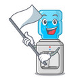 with flag modern water cooler isolated on mascot vector image
