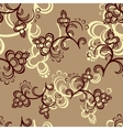 Brown Flower Pattern vector image