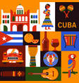 cuba travel icons vector image