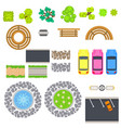 top view landscape isolated objects vector image