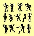 Icon boy silhouette vector image