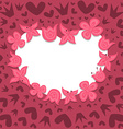 Romantic background with heart wreath vector image