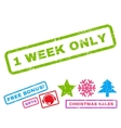 1 Week Only Rubber Stamp vector image vector image