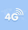 4g fast internet 3d sign in blue background and vector image vector image
