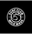 a set of surfing for printing wild wave logo vector image vector image