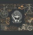 alchemy banner with hand-drawn sketches and notes vector image