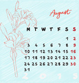 august 2015 flowers vector image vector image