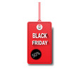 black friday sale tag isolated special offer icon vector image