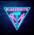 blacksmith graphic vintage emblem vector image vector image