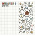 Business hand draw integrated icons set vector image vector image