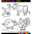 Cartoon Farm Animals for Coloring Book vector image vector image