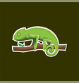 chameleon logo bagde for sport esport vector image vector image