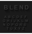 Classic alphabet with modern long shadow effect vector image vector image