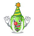 clown chinese cabbage vegetable isolated on vector image