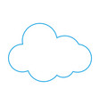 color line natural cloud in sky to weather design vector image vector image