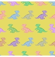 Colored dinosaurs Seamless background vector image vector image