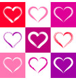colorful valentine card with hearts vector image