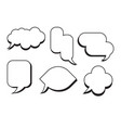 comic text speech bubble set dialog empty box vector image vector image