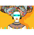 conceptual ethnic fashionable female portrait vector image vector image