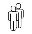 couple figure human silhouette vector image