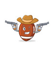 cowboy american football character cartoon vector image vector image