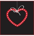 Cute background with heart vector image vector image