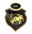 design for gym and bodybuilding vector image vector image