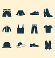 dress icons set collection of female winter shoes vector image vector image