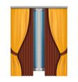 elegant window curtains icon cartoon style vector image