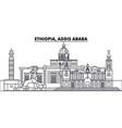 ethiopia addis ababa line skyline vector image vector image