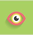 Eye icon flat modern design vector image