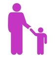 Father With Son Icon vector image